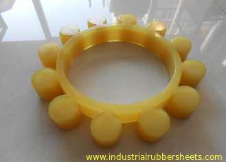 High Durability Yellow Polyurethane Spider Coupling  / MT Shaft Coupling