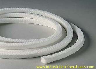 White Lattice Braided PTFE Packing , PTFE Packing With Oil Or Without Oil