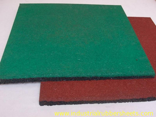 Wood Grain Industrial Rubber Sheet Rubber Felt Floor Spill Mat , 10-50mm Thickness